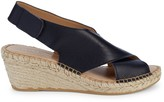 Andre Assous Florence Leather Espadrille Wedge Sandals