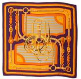 Hermes Coaching Cashmere Silk Shawl