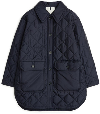 Arket Long Quilted Jacket