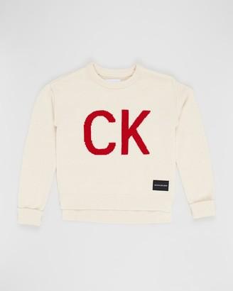 Calvin Klein Jeans CK Logo Intarsia Sweater - Teens