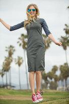 Shabby Apple Huntington Fitted Sheath Blue Dress