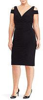 Lauren Ralph Lauren Plus Cut-Out Shoulder Jersey Dress