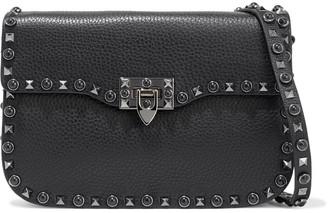Valentino Rockstud Rolling Medium Pebbled-leather Shoulder Bag