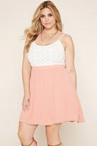Forever 21 FOREVER 21+ Plus Size Crochet Cami Dress