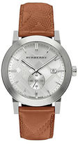 Burberry BU9904 Stainless Steel Tan Leather Strap Watch