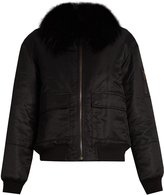 Yves Salomon Fur-lined shell bomber jacket