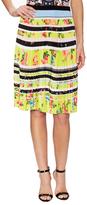 Mary Katrantzou Fontaine Printed Pleated Knee Length Skirt