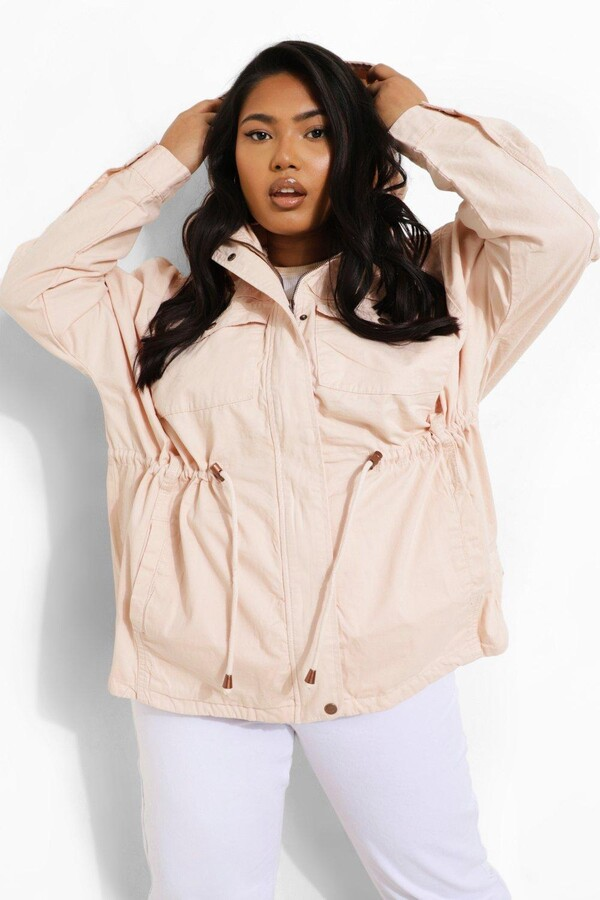 Thumbnail for your product : boohoo Plus Coated mac