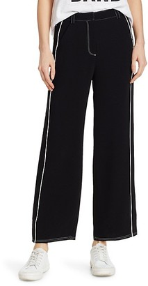Cinq à Sept Tatum Western Embroidered Ankle Trousers