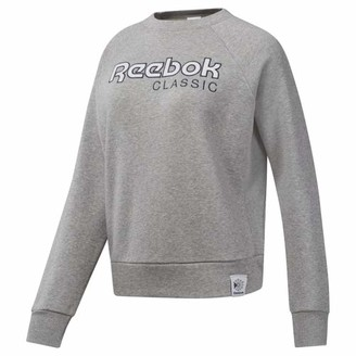 Reebok Classics Women's Big Logo Fleece Crew Sweater