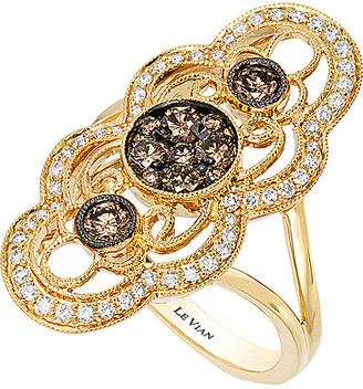 LeVian Le Vian Chocolatier Chocolate Deco Estate 14K 0.89 Ct. Tw. Diamond Ring