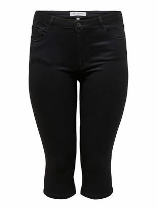ONLY Carmakoma Women's Caraugusta Life Hw Skinny Knickers Black Shorts 48