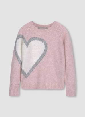 Mint Velvet Pink Heart Intarsia Jumper