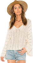 Ella Moss Caprisa Crochet Sweater in Ivory. - size L (also in M)