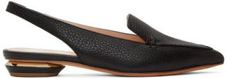 Nicholas Kirkwood Black Beya Slingback Slippers