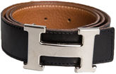 One Kings Lane Vintage Hermès H Reversible Black & Gold Belt
