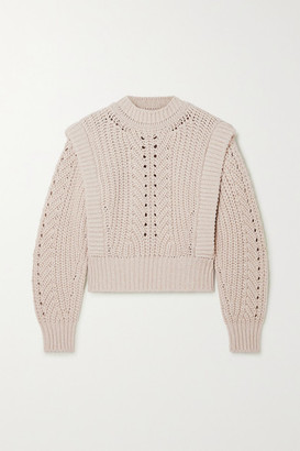 Isabel Marant Prune Ribbed Pointelle-knit Sweater - Ecru