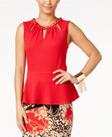 Thalia Sodi Cutout Peplum Top, Only at Macy's