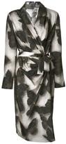 Lanvin butterfly print wrap dress