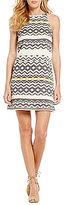 BB Dakota Andress Printed Jacquard Sheath Dress