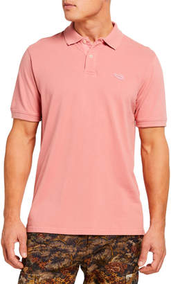 Ovadia & Sons Men's Solid Cotton Polo Shirt