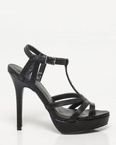 Le Château Leather-Like T-strap Platform Sandal