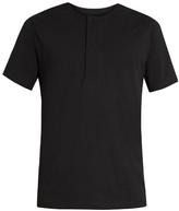 Lemaire Henley cotton T-shirt