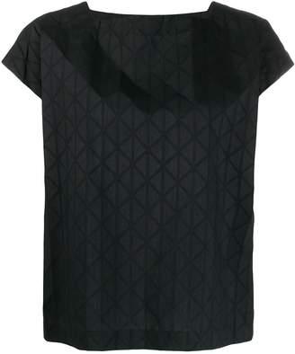 Issey Miyake geometric pattern top