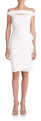 Chiara Boni Melania Short Off-The-Shoulder Dress