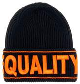 Versace Equality embroidered wool beanie