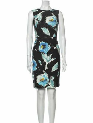 Oscar de la Renta 2016 Knee-Length Dress Blue