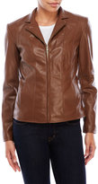 Cole Haan Leatherette Convertible Collar Jacket