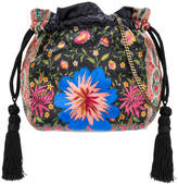 Etro mixed print drawstring pouch bag