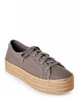 Steve Madden Grey Hampton Platform Espadrille Sneakers