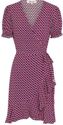 Diane von Furstenberg Emilia printed crepe minidress