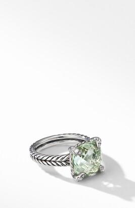 David Yurman Chatelaine(R) Prasiolite Ring with Diamonds