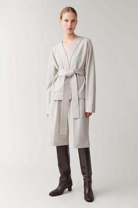Cos Cotton-Linen Wide-Leg Shorts