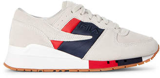Fila White & Navy Original Running Chiara Low-Top Sneakers