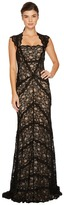 Nicole Miller Eva Gown Stretch Lace Women's Dress