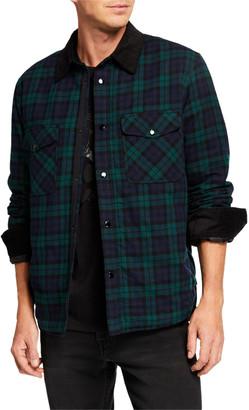 Rag & Bone Men's Plaid Padded Snap-Front Jacket
