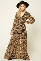 Forever 21 FOREVER 21+ Reverse Leopard Print Dress