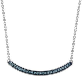 Jewelili Sterling Silver Diamond Necklace