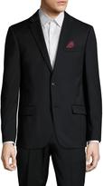 Ben Sherman Men's Solid Notch Lapel Sportcoat