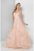 Terani Prom - Embelished Sweetheart Bodice with a Layered A-line Skirt Prom Gown 1711P2839