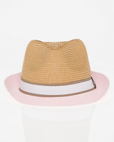 Le Château Two-Tone Woven Fedora Hat