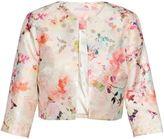 Gina Bacconi Spring Blossom Metallic Printed Jacquard Jacket