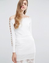 Alice McCall City Sounds Ribber Off-Shoulder Top
