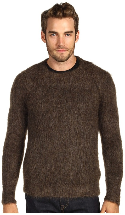 DSquared DSQUARED2 - Mohair Crewneck Sweater (Brown) - Apparel