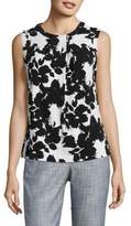 Karl Lagerfeld Suits Sleeveless Knit Foldover Top