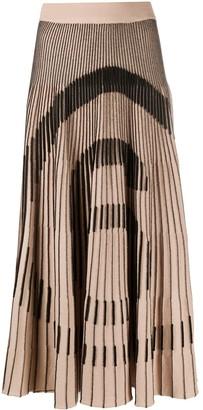 MM6 MAISON MARGIELA 6 Logo Pleated Midi Skirt